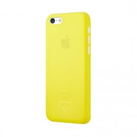 Задняя крышка для iPhone 5c Ozaki (0.3 мм) желтая