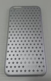 Накладка iphone 6 звездочки, серебряная