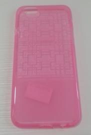 Накладка силиконовая iphone 6 розовая с узором