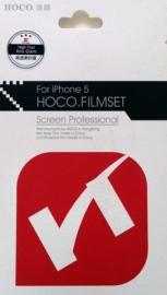 Защитная пленка для iPhone 5 Hoco Filmset (глянцевая двухсторонняя)