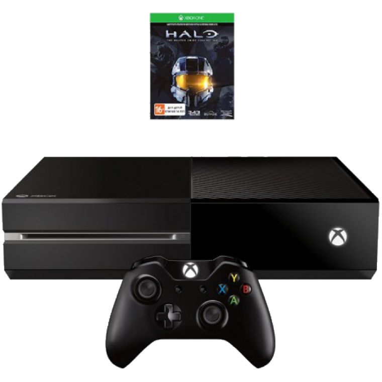 Игровая приставка Microsoft Xbox One 500Gb (Black) + HALO: The Master Chief Collection title=