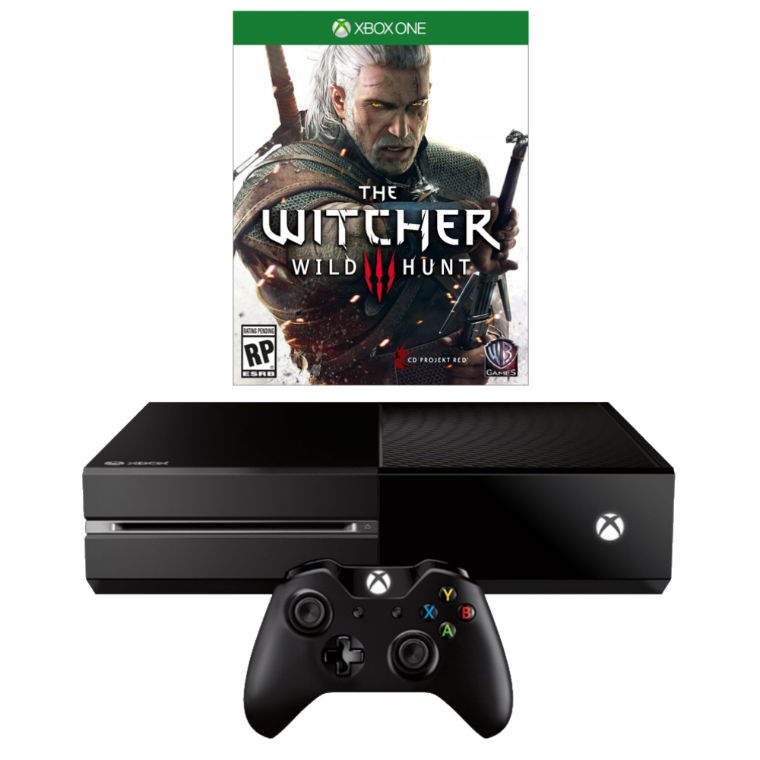 Игровая приставка Microsoft Xbox One 500Gb (Black) + The Witcher 3 title=