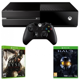 Игровая приставка Microsoft Xbox One 500Gb (Black) Ryse. Son of Rome + Halo. The Master Chief Collection