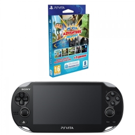 Игровая приставка Sony PS Vita Wi-Fi 4Gb (Black) + Adventure Mega Pack + Memory Card 8Gb