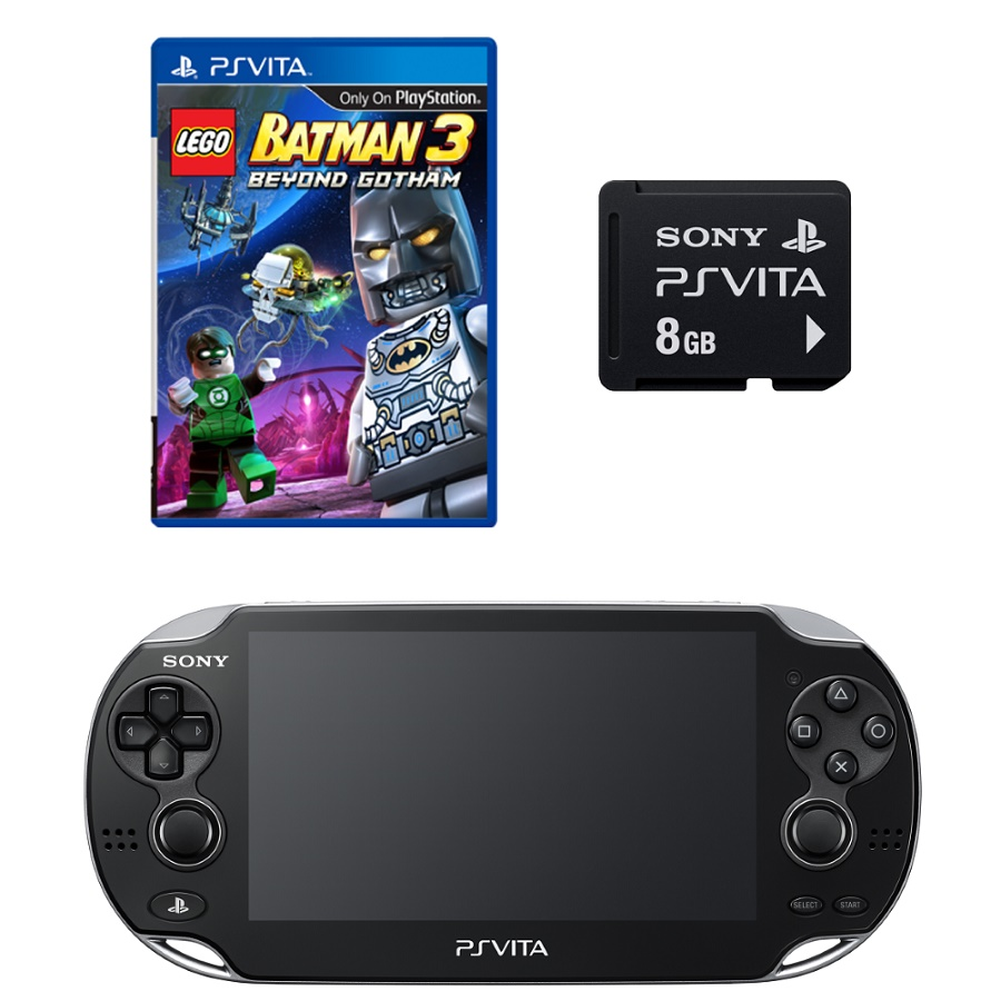 Игровая приставка Sony PS Vita Wi-Fi 4Gb (Black) + Lego Batman 3 + Memory Card 8Gb title=