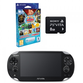 Игровая приставка Sony PS Vita Wi-Fi 4Gb (Black) + Megapack Heroes + Memory Card 8Gb