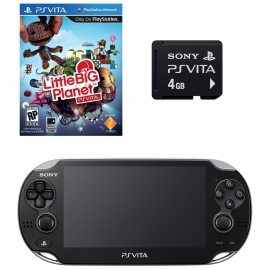 Игровая приставка Sony PS Vita Wi-Fi 4Gb (Black) + Little Big Planet + Memory Card 4Gb