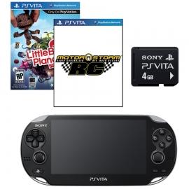 Игровая приставка Sony PS Vita Wi-Fi 4Gb (Black) + 3G + Motorstorm RC + Little Big Planet + Memory Card 4Gb