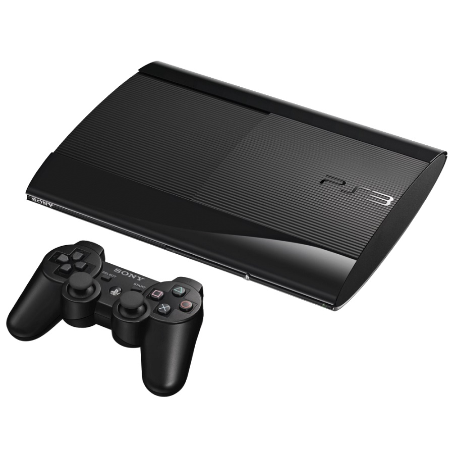 Игровая приставка Sony PS3 Super Slim 500GB (Black) + The Last of Us + Beyond: Two Souls title=