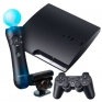 Игровая приставка Sony PS3 Super Slim 500GB (Black) + Sports Champions 2 + Gran Turismo 6 + PS Move + PS Eye title=