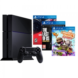 Игровая приставка Sony PlayStation 4 500Gb (Black) + Driveclub + Little Big Planet 3 + The Last of Us