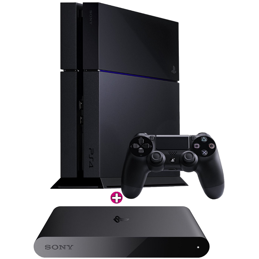 Игровая приставка Sony PlayStation 4 500Gb (Black) + PlayStation TV Телевизионная приставка title=