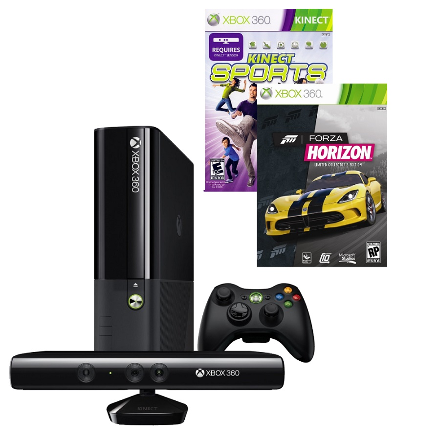 Игровая приставка Microsoft Xbox 360E 4Gb (Black)+ Kinect + Kinect Sports + Forza Horizon title=