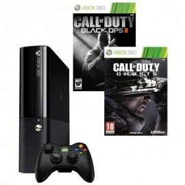 Игровая приставка Microsoft Xbox 360E 4Gb (Black)+ Call of Duty: Ghosts + Call of Duty: Black Ops 2