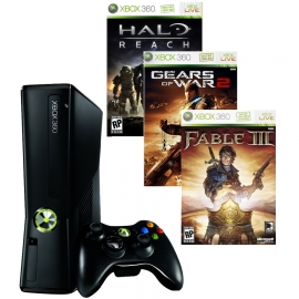 Игровая приставка Microsoft Xbox 360 250Gb (Black)+ Halo Reach + Gears of War 2 + Fable III + 3M Live Gold