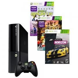 Игровая приставка Microsoft Xbox 360 250Gb (Black)+ Kinect + Kinect Sports 2 + Kinect Adventures + Forza Horizon