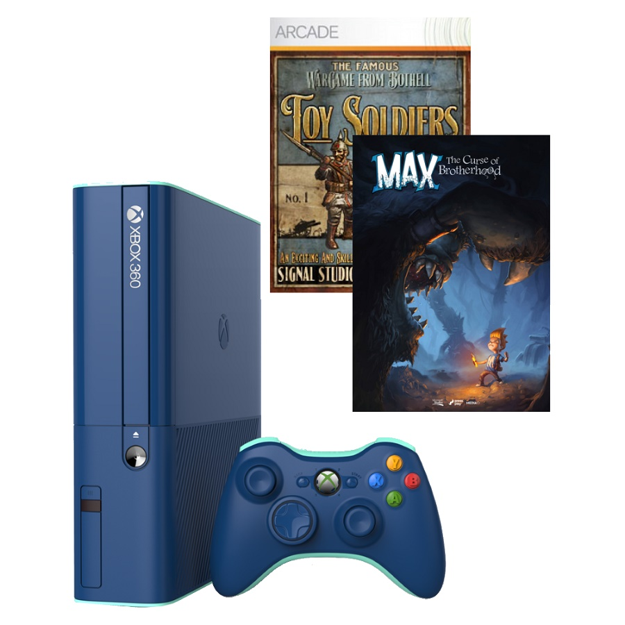Игровая приставка Microsoft Xbox 360E 500Gb (Black)+ Toy Soldiers + Max: The Curse of Brotherhood title=