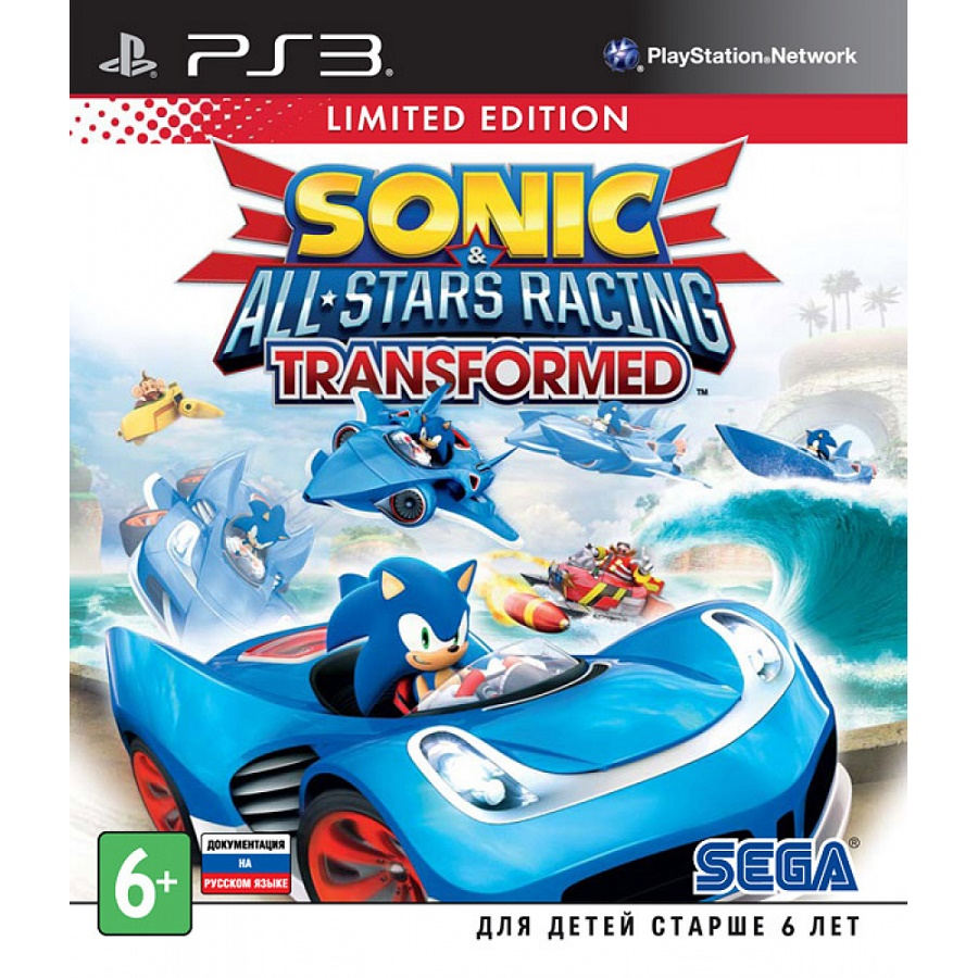 Игра для PS3 Sonic & All-Star Racing Transformed (Limited Edition) title=
