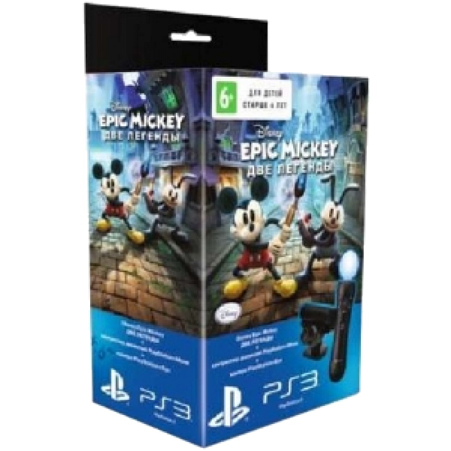 Игра для PS3 Комплект: Epic Mickey: Две легенды + Камера PS Eye + Контроллер PS Move title=