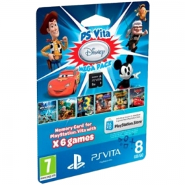 Комплект игр для PS Vita «PSN код активации 6 игр. Disney Mega Pack» + Карта памяти 8 Гб
