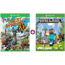 Игры для Xbox One  Microsoft Sunset Overdrive + Minecraft