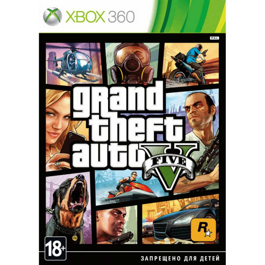 Игра для Xbox 360 Grand Theft Auto V title=