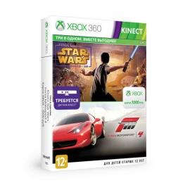 Игра для Xbox 360 Forza Motorsport 4 + Kinect Star Wars + карта Xbox Live на 1000 руб.