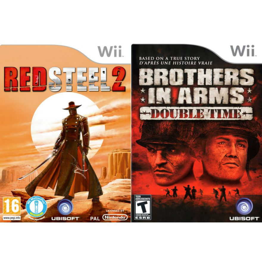 Игра для Nintendo WII Комплект: Red Steel 2 + Brothers in arms Double time title=