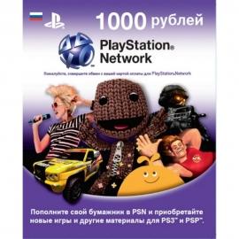 Карта оплаты для Playstation  Playstation Network Card 1000