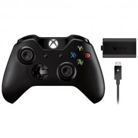 Геймпад беспроводной Microsoft Xbox One Wireless Controller + зарядное устройство Play and Charge Kit (W2V-00011)