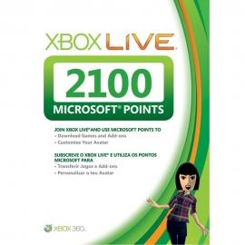 Xbox Live 2100 Microsoft Points Карта оплаты для Xbox 360